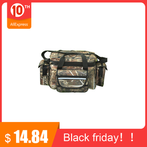 Waterproof Fishing Bag Large Capacity Multifunctional Lure Fishing Tackle Pack Outdoor Shoulder Bags 50*27*28cm