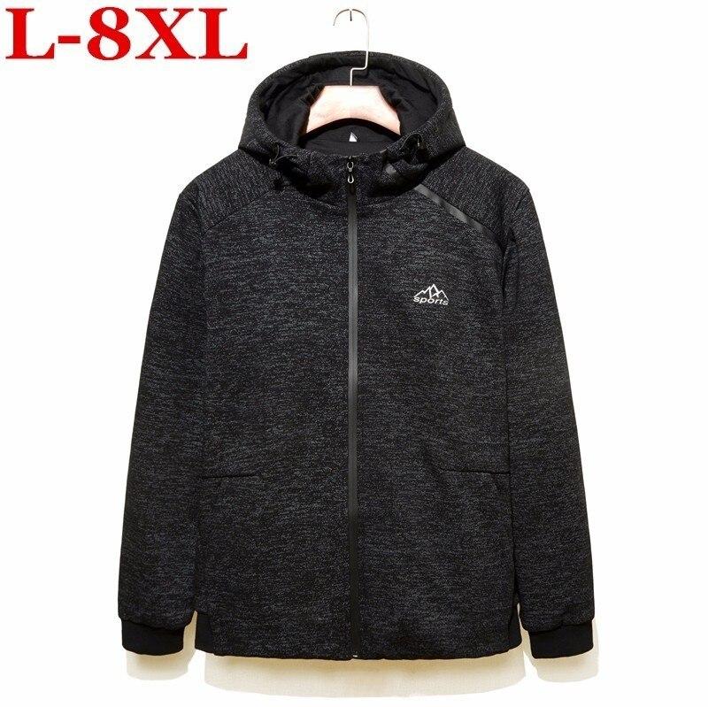 Новая зимняя мужская куртка размера плюс 8XL с капюшоном, Брендовые повседневные мужские куртки и пальто, толстая парка, мужская верхняя одеж...