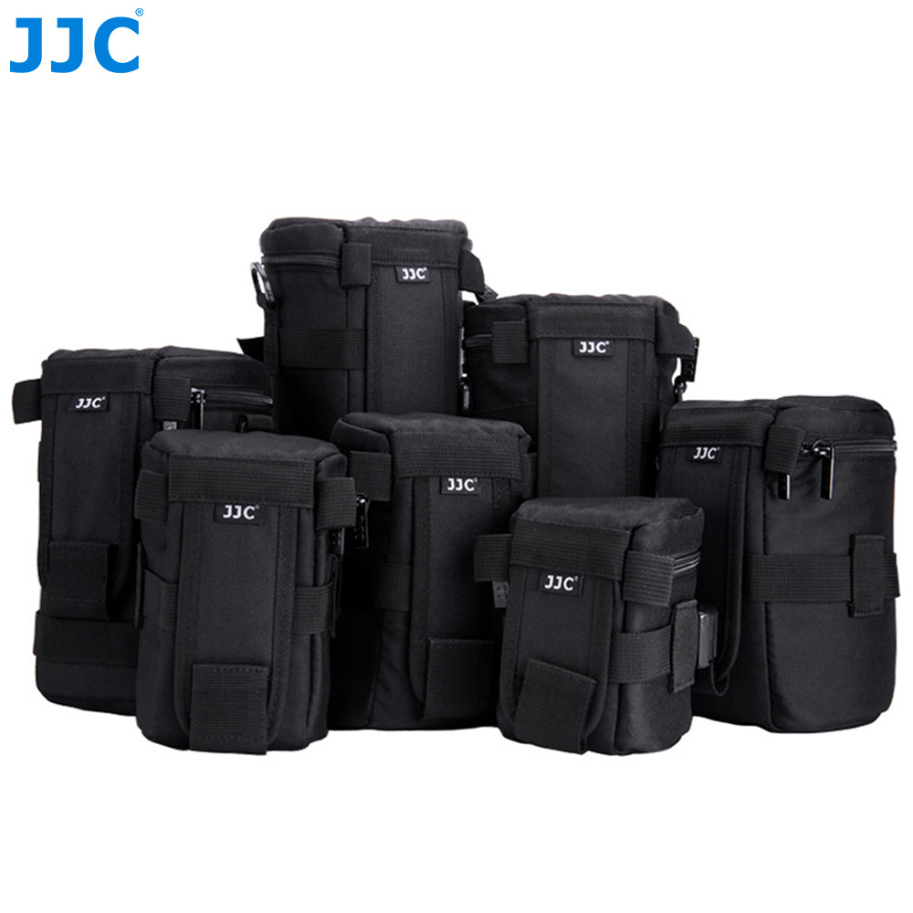 JJC Waterproof Deluxe Camera Lens Bag Pouch for Canon Sony Nikon JBL Xtreme Polyester Soft Case SLR DSLR Box Photography Belt