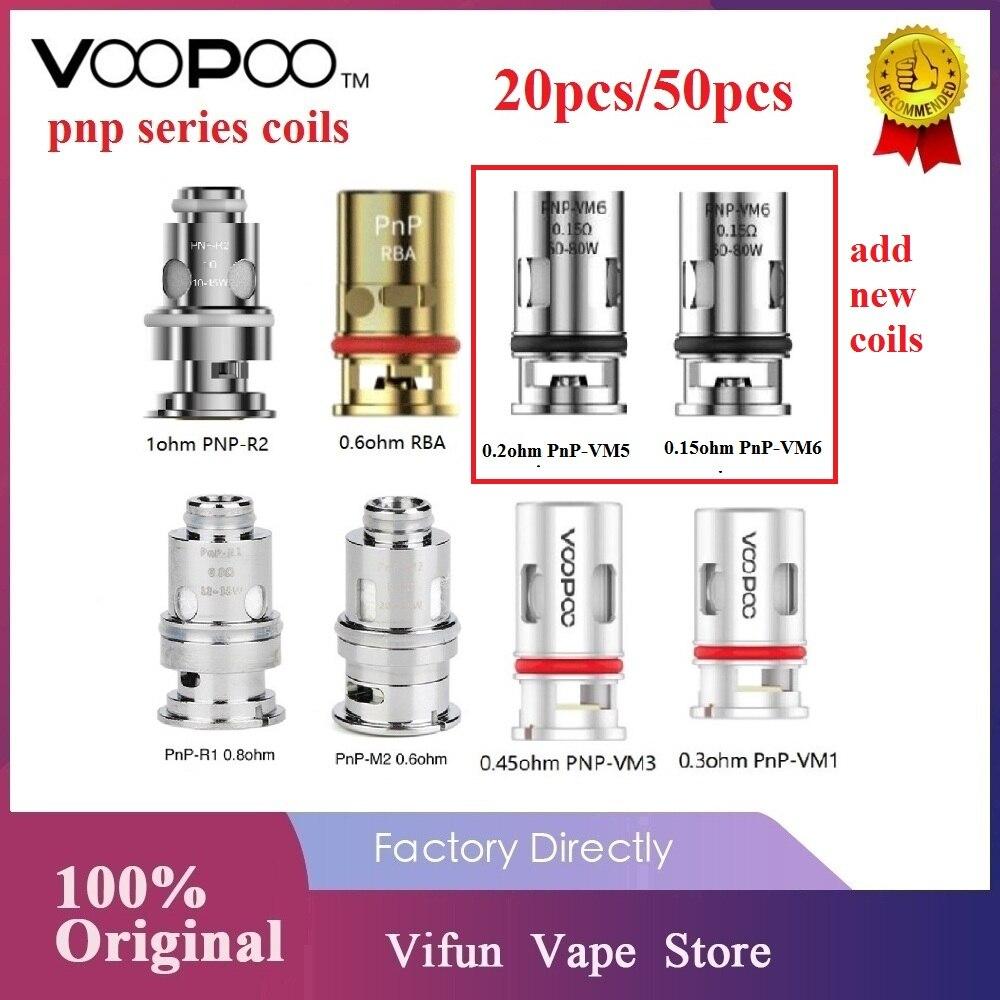 Original VOOPOO PnP Coils 0.3ohm/ 0.8 Ohm Mesh Coil /0.15ohm PnP-VM6/ 0.2ohm PnP-VM5 For VOOPOO Drag S/ Drag X / VINCI Vape Coil