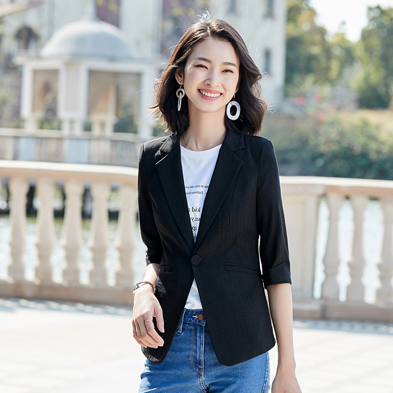Casual ladies blazer 2020 summer fashion jacket feminine Temperament Interview Small Suit Occupation