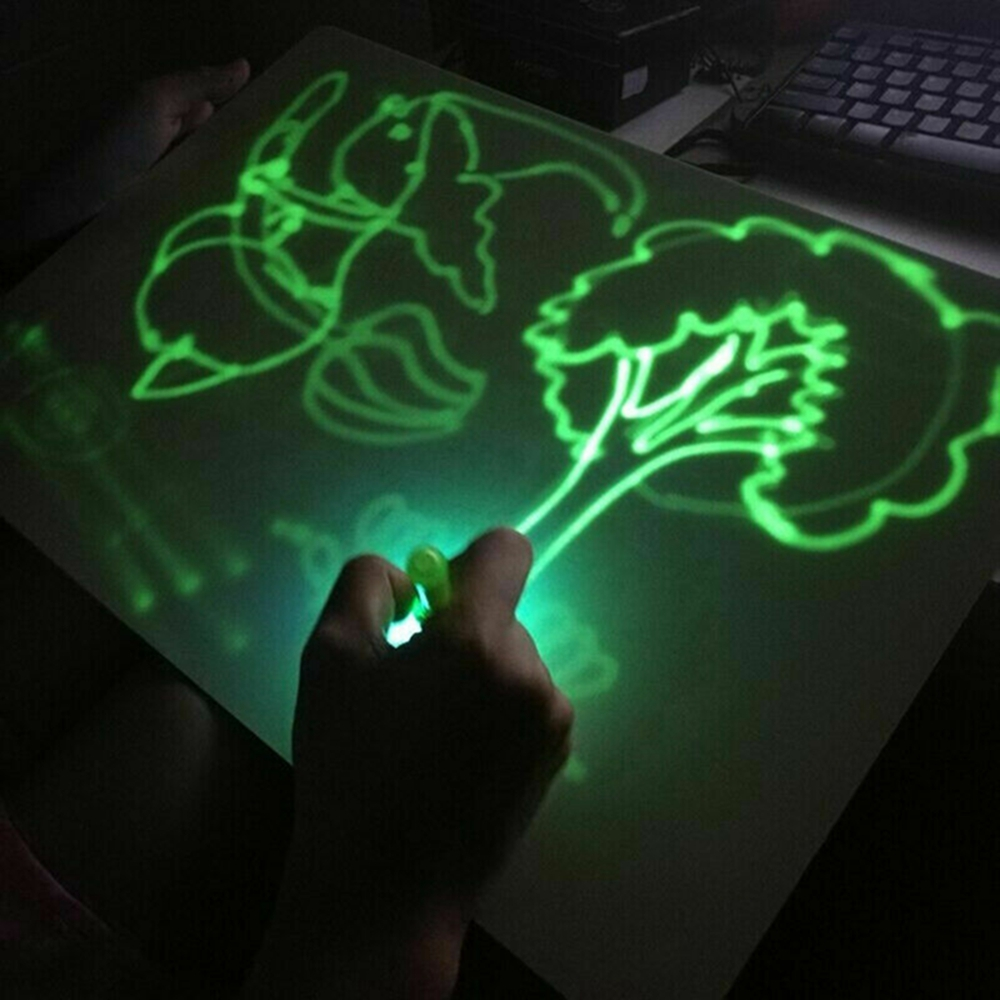 2019 A4 A5 LED Luminous Drawing Board Graffiti Doodle Drawing Tablet Magic Draw With Light Fun And Developing Toy Drawing Board
