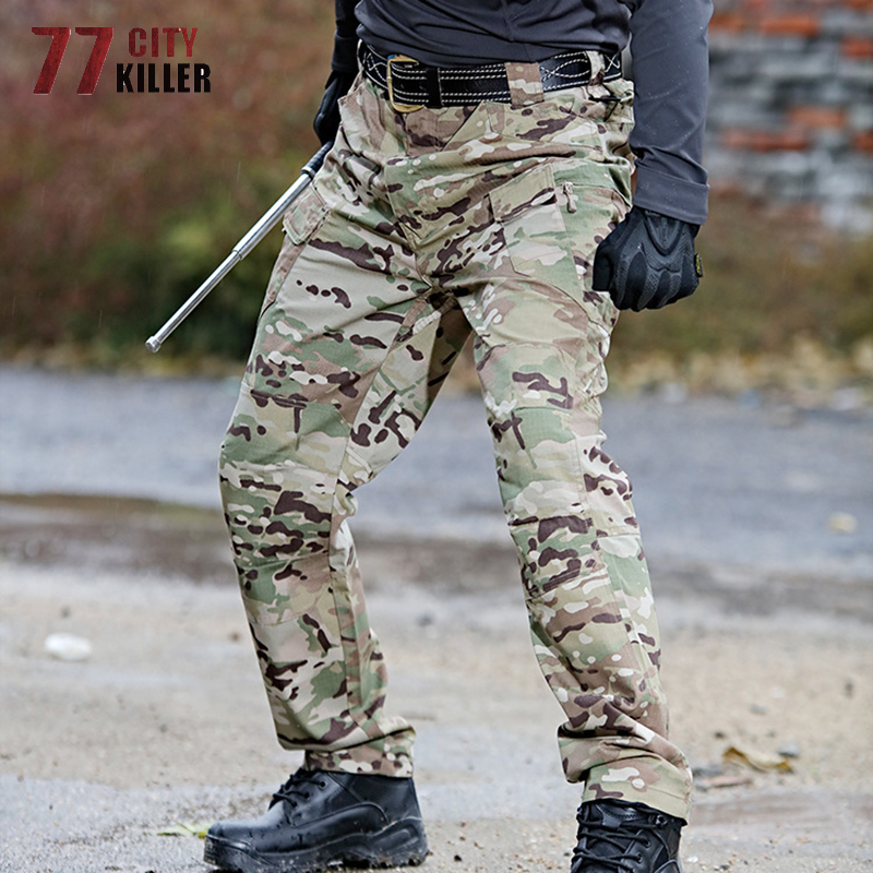 77City Killer Military City Tactical Pants Men 5XL 6XL Combat Waterproof Cargo Mens Pants Breathable SWAT Camouflage Trousers 2