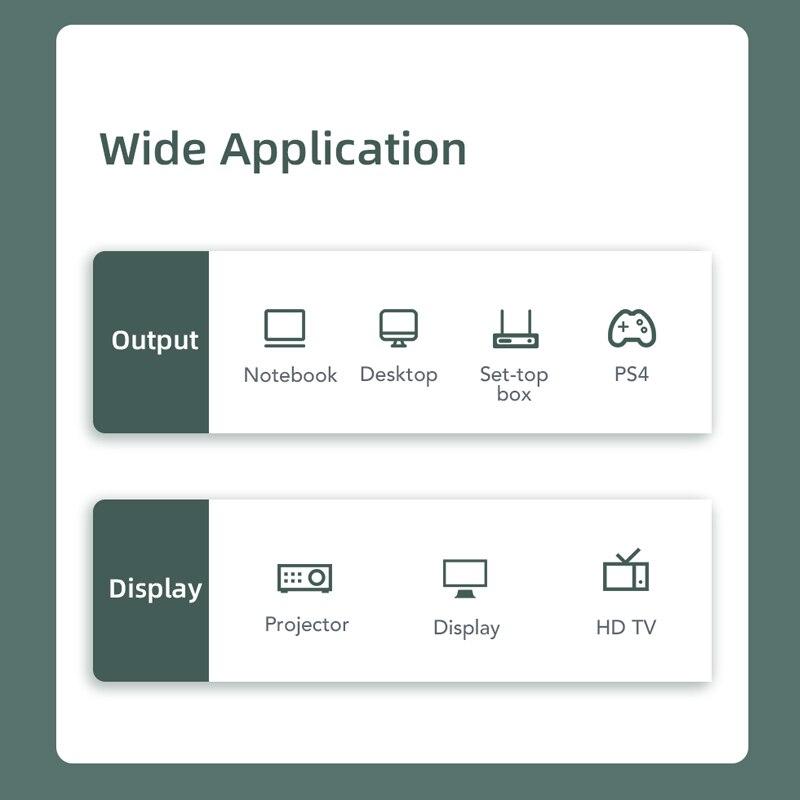 Cabletime Dp Naar Hdmi-Compatibel M/F Converter 4K/2K Display Port Naar Hdmi-compatibel Adapter Displayport Hdmi 4Kfor Macbook N007 5