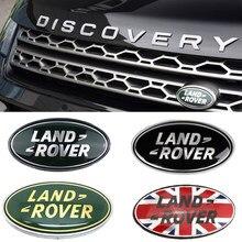 Grade dianteira do tronco emblema para a descoberta land rover range rover evpque defender 3 4 freelander esporte bagageira adesivo decoração