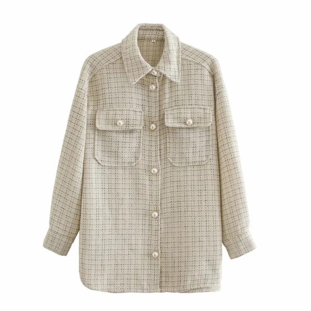 Tweed Women Vintage Oversize Shirt 3
