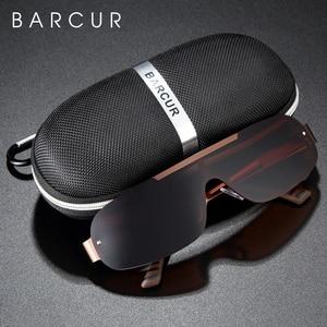 Image 2 - BARCUR aluminium magnésium hommes lunettes De soleil pilote conduite étroite lentille polarisée homme soleil verre femmes Gafas De Sol nuances