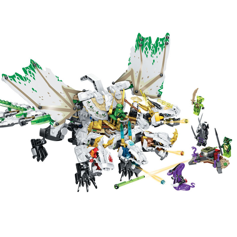 755pcs Ninjaingly Ultra Dragon Movie Fly Mecha Dragon Transformation DIY Building Block Sets Compatible Lepining Ninjagoed Toys image