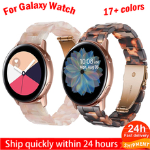 Strap for samsung galaxy watch 3 46mm active 2 40 44mm 20mm 22mm Resin Watch strap Gear S3 band replacement for huawei gt2 watch