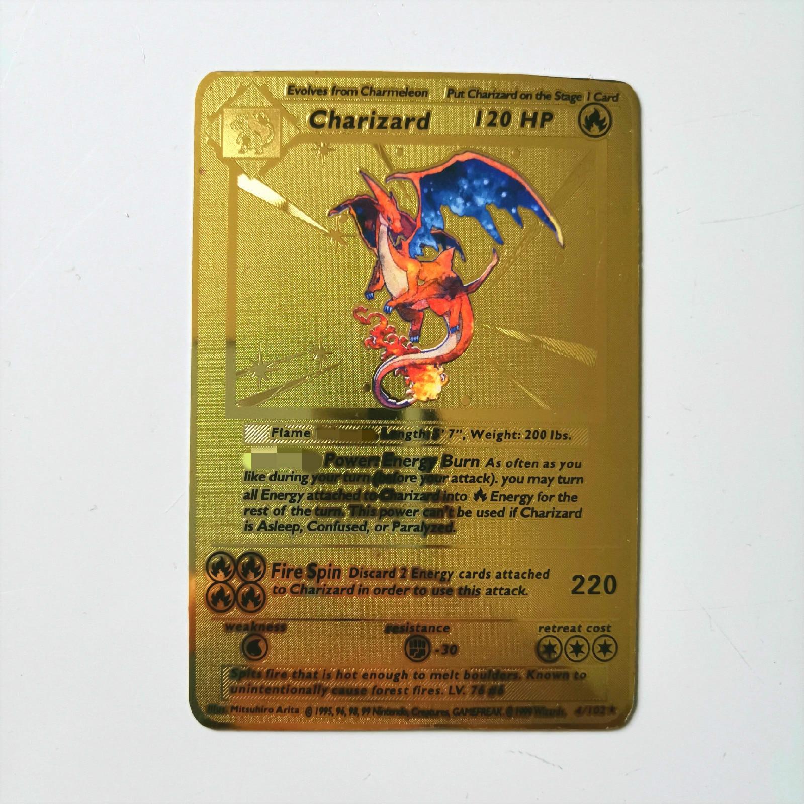 Dragon Ball золотая металлическая карточка супер игра Коллекция аниме-открытки игра детская игрушка - Цвет: G