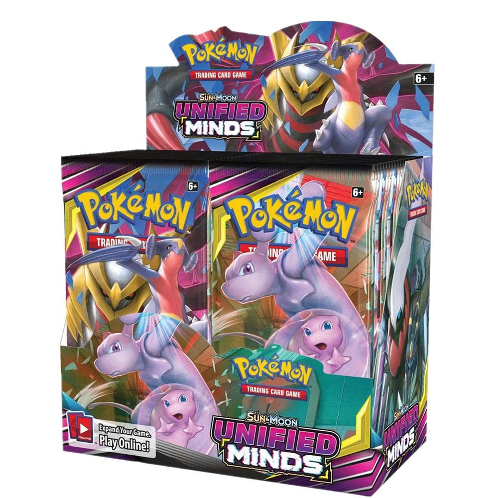324 개/상자 Pokemon TCG Sun & Moon 통합 된 마음 36 팩 부스터 박스 트레이딩 카드 게임 키즈 컬렉션 완구
