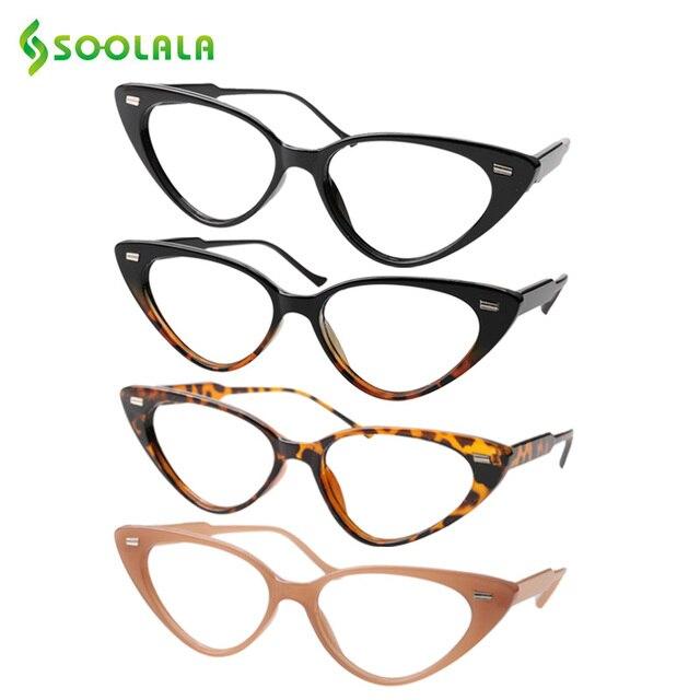 SOOLALA Cat Eye Reading Glasses Women Lesebrille Presbyopic Reading Glasses For Sight 1.0 1.25 1.5 1.75 to 4.0 Glasses Diopter
