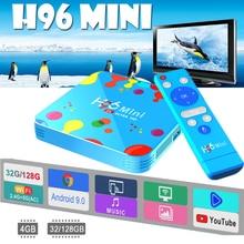 купить Android tv box H96 MINI Allwinner H6 Quad Core Smart TV Box Android 9.0 4GB RAM 128GB ROM 6K HD 4K 30fps H.265 Set top iptv box дешево
