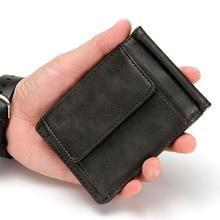 RFID Small Slim RFID Men Wallets Money Clip Luxury Brand Min