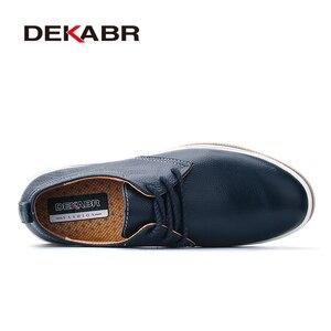 Image 2 - DEKABRขนาด 38 ~ 47 รองเท้าผู้ชายBreathableรองเท้าผ้าใบแฟชั่นMasculinoหนังแท้รองเท้าZapatos Hombre Sapatosรองเท้าผู้ชาย