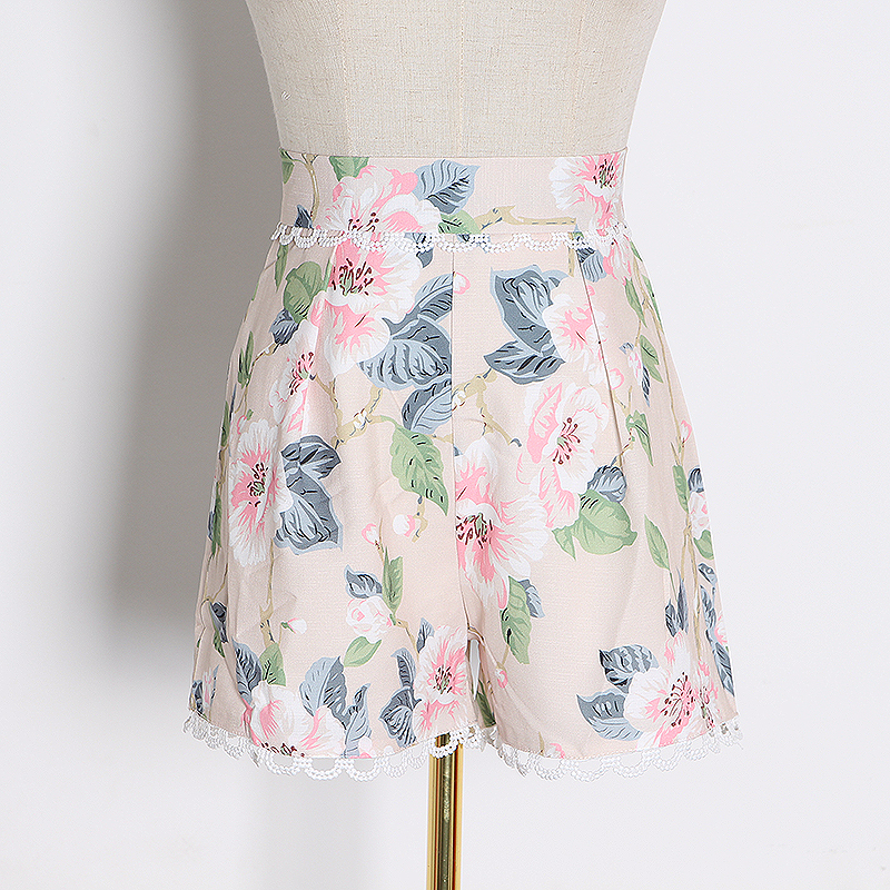 CHICEVER, conjunto de dos piezas de encaje hueco, chaleco sin mangas de cuello cuadrado para mujer, Chaleco corto de cintura alta, trajes de Moda de Primavera 2020 para mujer - 6