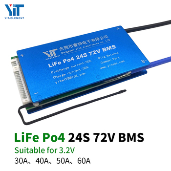 24S 72V Lithium battery 3.2V power protection board temperature protection equalization function overcurrent protection BMS PCB jet city 24s