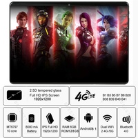 Tablets 6GB 128GB Android 9.0 Tablet 10.1 inch IPS Super Tempered Glass Phone Call 3G 4G Tablet Octa Core Dual SIM Card WiFi GPS|Tablets| |  -