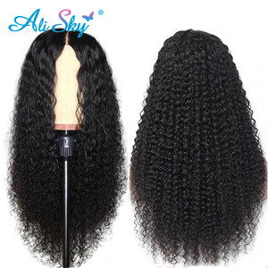Image 2 - Malaysian Kinky Curly Lace Front Wig 360 HD Transparent Lace Front Human Hair Wigs for Black Women 13*6 Curly Bob Wig PrePlucked