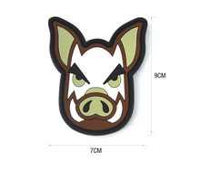 TACTICAL PIG Hook & Loop BACKED PVC GOMMA PATCH Airsoft Morale Distintivo Cinghiale Maiale di Patch Distintivo Per Zaino Giacca(China)