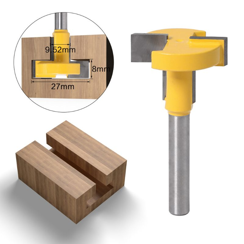 6mm Shank T-Slot T-Track Slotting Router Bit For Woodworking Chisel Cutter Tool