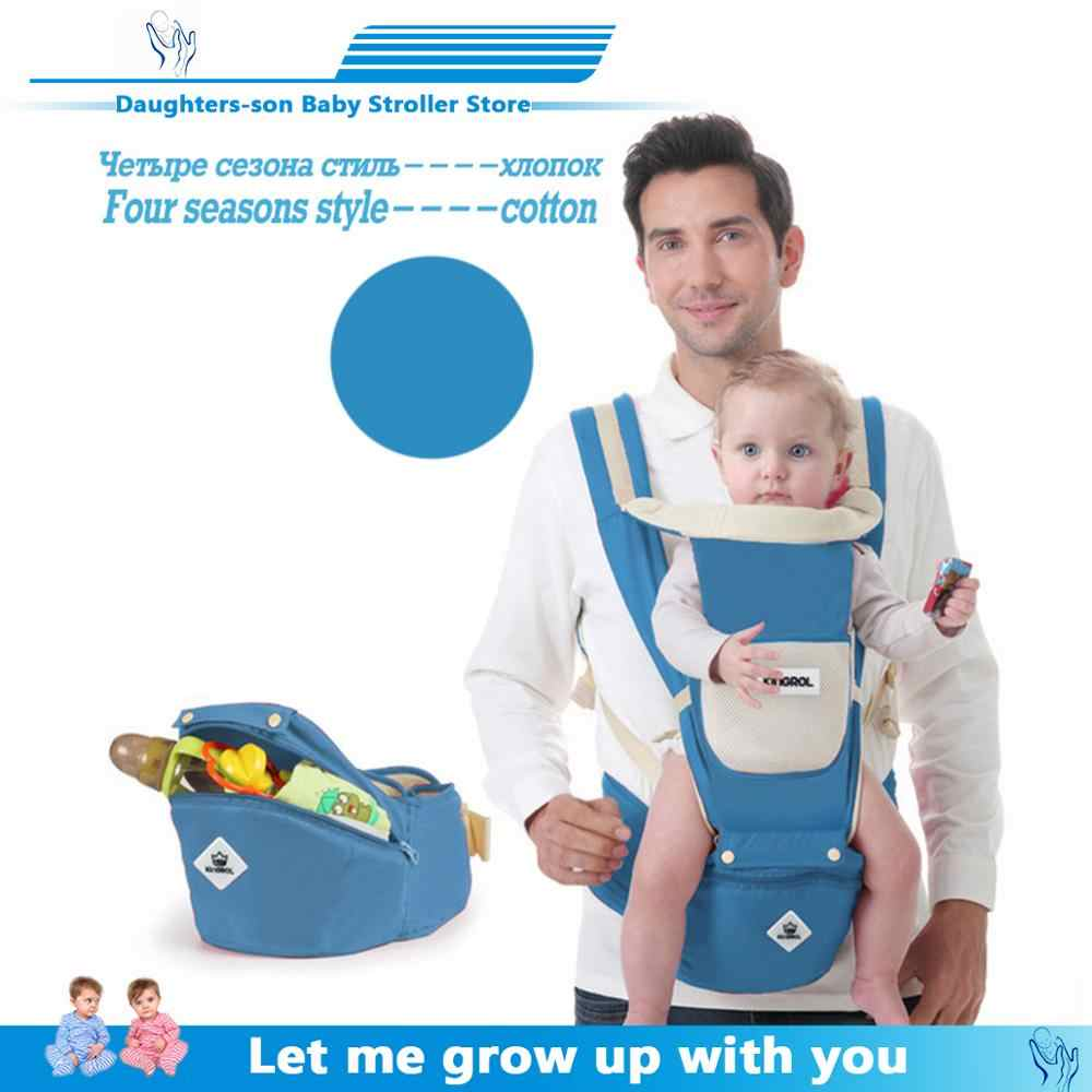 ERGONOMIC Baby Carrier เด็กทารก Hipseat ด้านหน้า Kangaroo Baby Wrap Carrier สำหรับเดินทางเด็ก 0-18 เดือน
