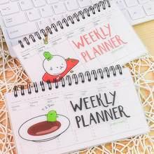 Kawaii transparente pp bobina planejador semanal agenda diária bloco de notas livro diário planejador caderno estacionário material escolar