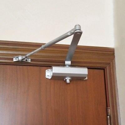 Автоматические Дверные доводчики, система безопасности, регулируемое закрытие/скорость фиксации алюминия для левых и правых дверей 25-45 кг ...