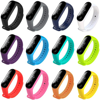 12pcs Colorful Strap For Xiaomi Mi Band 3 4 Sport watch Silicone wrist strap 3 4 bracelet Miband 4 3 Solid Strap Smart Bracelet