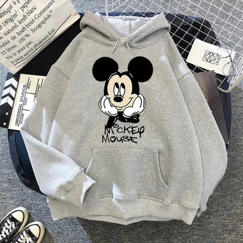 Disney Women Hoodies Minnie Mickey Mouse Hoodies Cartoon Tops Long Sleeve Pockets Sweatshirts Fashion Hooded Women 29