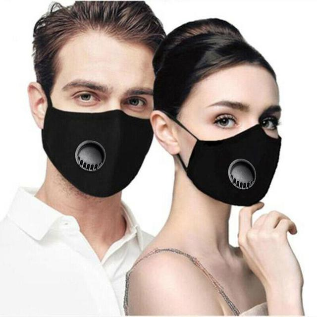 Reusable Protection Face Cover Activated Carbon Filter Paper Set 98% Isolate Bacterial Flu Mouth-muffle Respirator for Men Women 5
