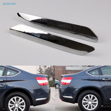 Benekar Rear Bumper Chrome Silver Trim Strip Decoration Cover for Citroen C5 2008 2015