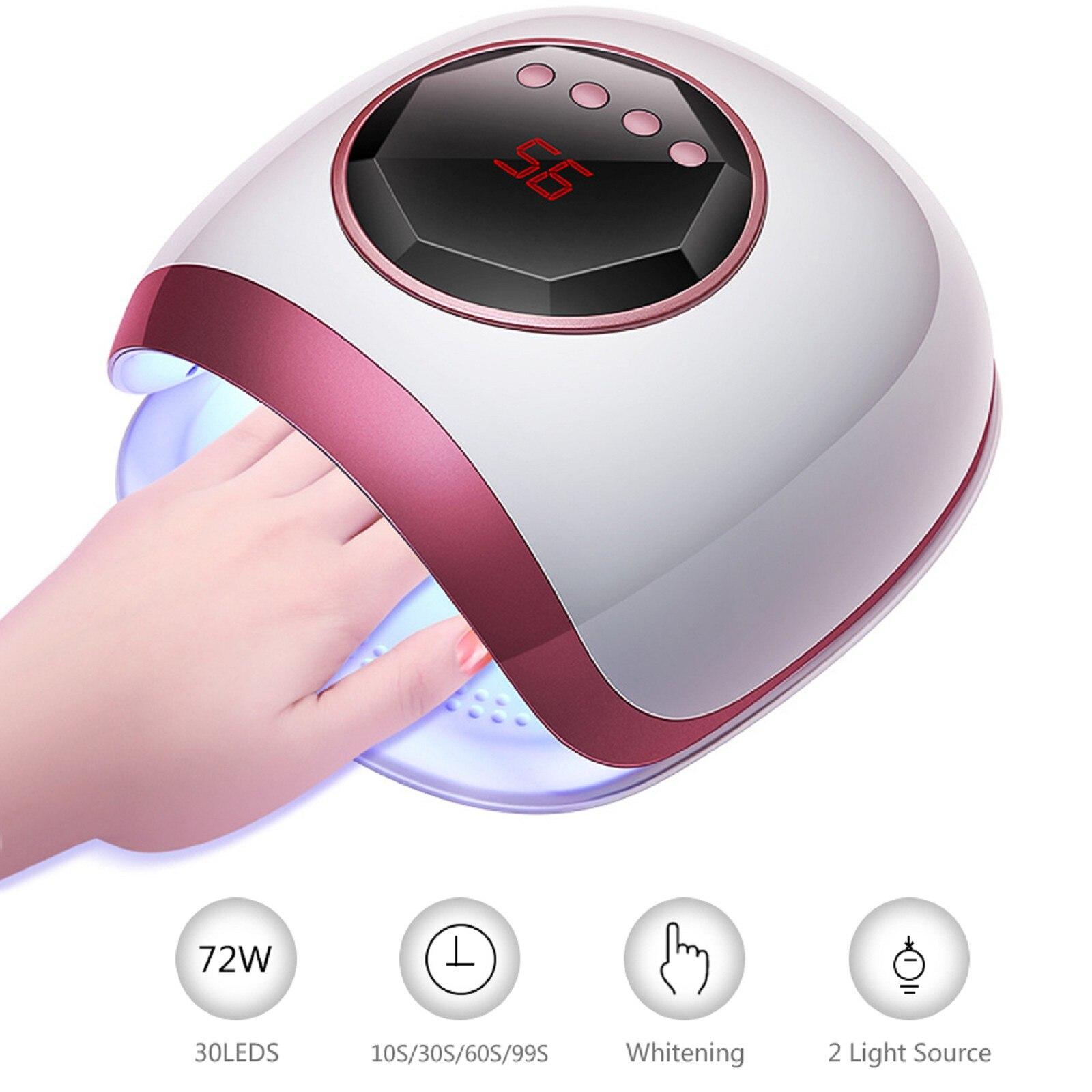 manicure máquina com temporizador display indução lâmpada do prego