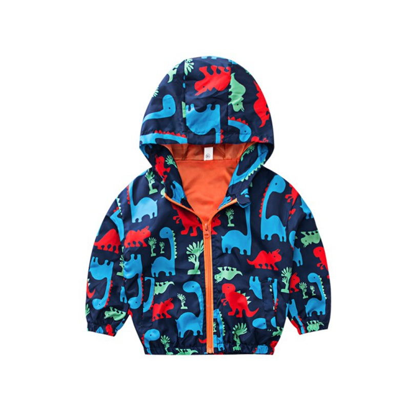 CROAL CHERIE  Fall Outerwear Coats Boys Kids Girls Jacket Cute Dinosaur Children Clothing Casual Baby Spring Jacket 80-130cm (6)