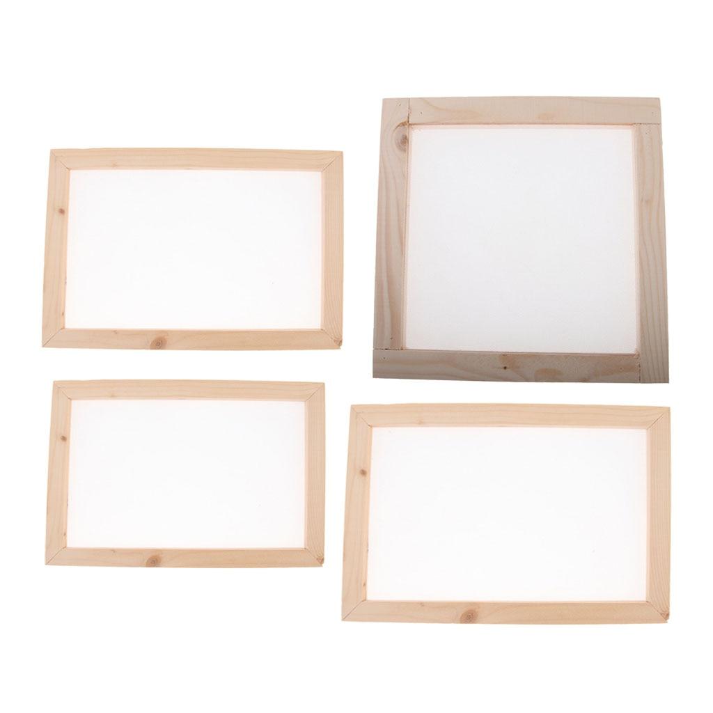 Antigo método de fabricação de papel de madeira fabricação de papel molde de fabricação de papel tela quadro para diy artesanato suprimentos
