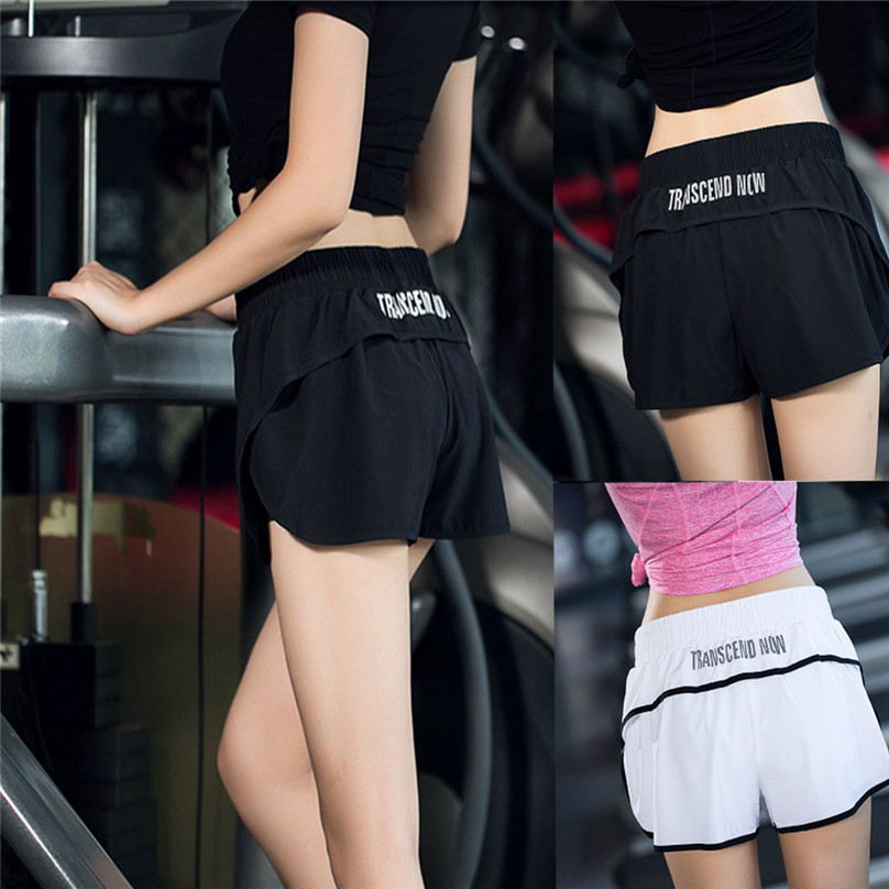 Sports Short Training Women Workout Fitness Girl Gym 4A29 Pants Beach Casual