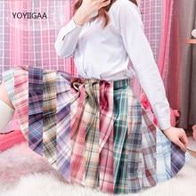 Harajuku Women Skirt Preppy Style Student Pleated Skirts Cute Sweet Ladies Girls Plaid Mini Skirts Summer Female Pleated Skirt