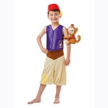 Criança crianças lâmpada árabe aladdin traje cosplay para meninos halloween purim festa de carnaval mascarada fantasia vestir