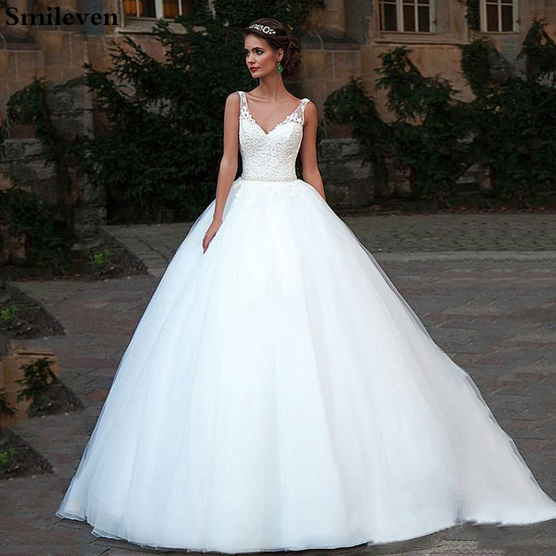 2019 Boho Wedding Dress Turkey V Neck Bridal Gowns Backless Elegant Vestido De Noiva Lorie Wedding Gowns For Women