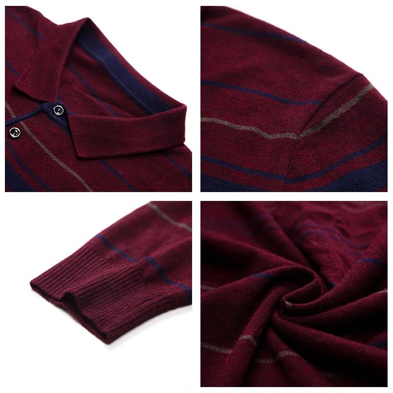 UCAK Brand Wool Sweaters Men 2020 New Arrival Turn-down Collar Striped Casual Spring Autumn Streetwear Pullover Swerater U1031