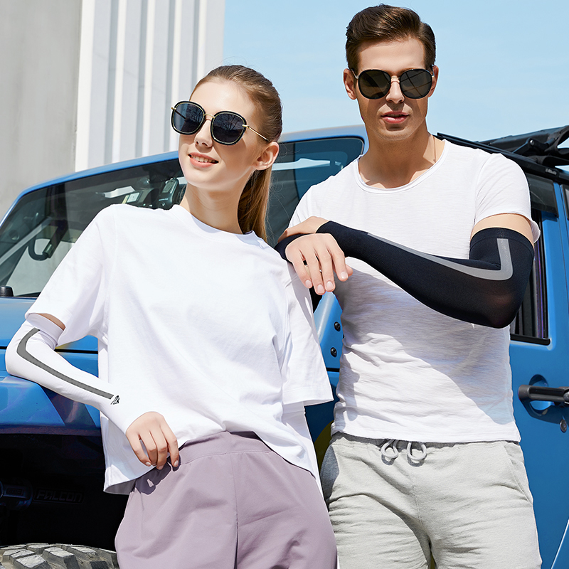 2020 Ice Silk Sunscreen Sleeve Summer Men Women Outdoor Cycling Driving UV Protection Arm Warmer Ice Cuff Sleeves