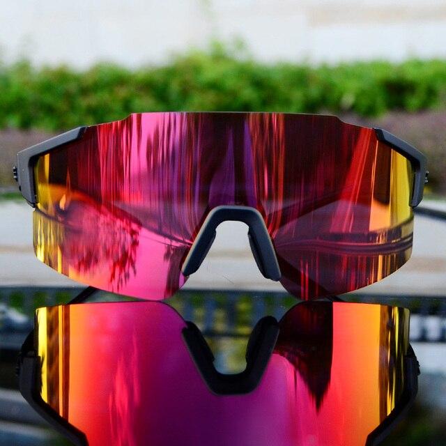 Marca dos homens esportes ao ar livre bicicleta ciclismo óculos de sol mtb bicicleta equitação mulher ciclismo óculos de sol gafas 1 lente 2