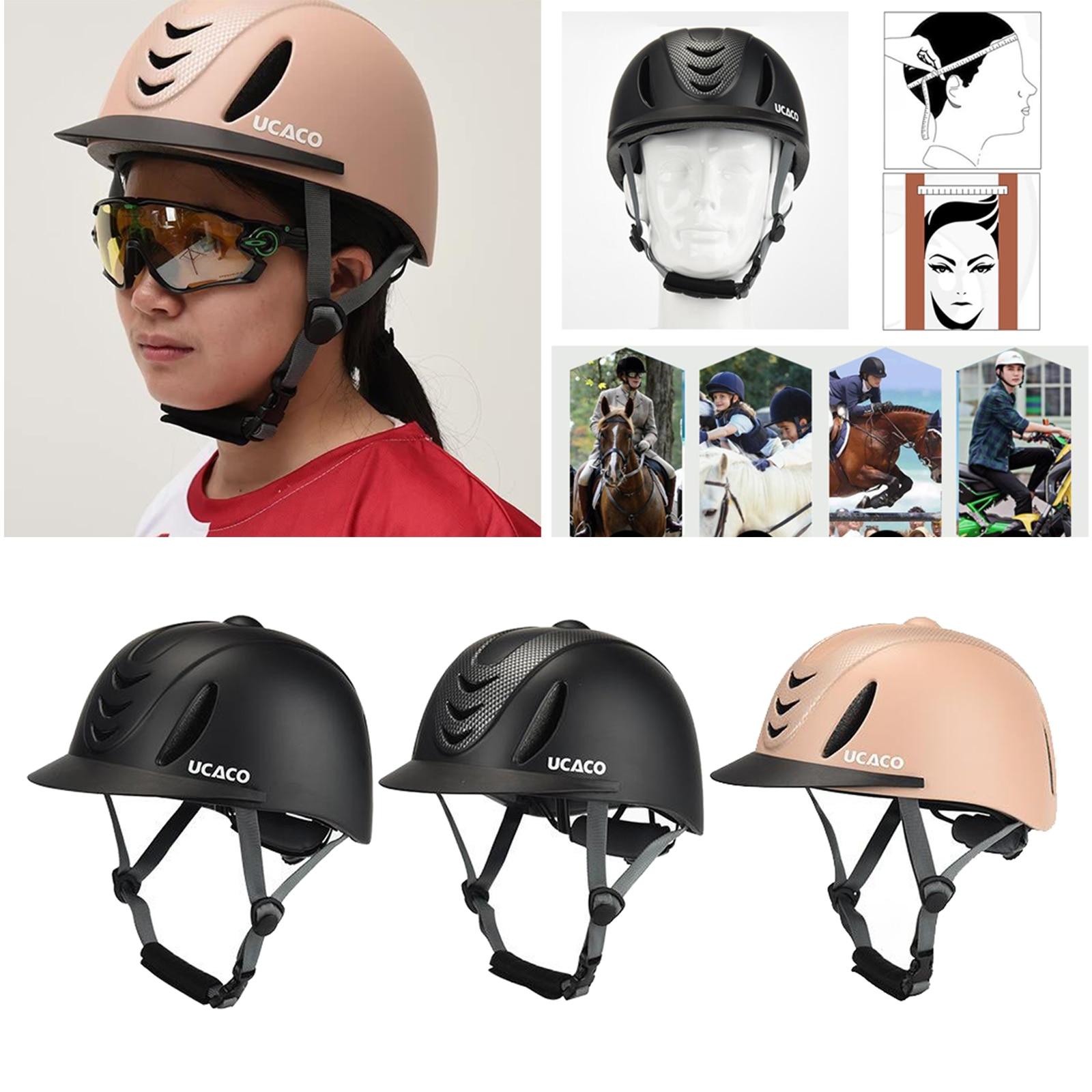 Adjustable Equestrian Helmet 55-61cm Horse Riding Helmet Men Women Riding Cap Breathable Equestrian Body Protectors