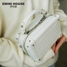エミニハウスワニのパターン本革ボックス高級ハンドバッグの女性のバッグデザイナークロスボディバッグ女性のハンドバッグ