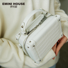 Emini 하우스 악어 패턴 정품 가죽 상자 가방 럭셔리 핸드백 여성 가방 디자이너 크로스 바디 가방 여성 핸드백