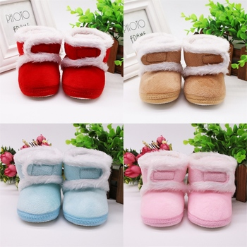 Baby Shoes Warm Newborn Toddler Boots Winter First Walkers baby Girls Boys Shoes Soft Sole Fur Snow Booties for 0-18M fashion baby shoes newborn girls boys warm rainbow snow boots toddler first walkers infant sweet soft sole prewalker crib shoes