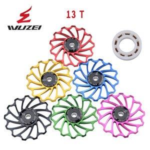 Image 4 - WUZEI polea de cerámica para bicicleta de carretera rodamiento de rueda de cerámica Jockey, aleación trasera de aluminio 7005, desviador 11T 12T 13T, 2 uds.