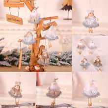 FENGRISE Merry Christmas Decoration Doll Ornaments 2019 Angel Tree Pendant New Year 2020 Decor Xmas