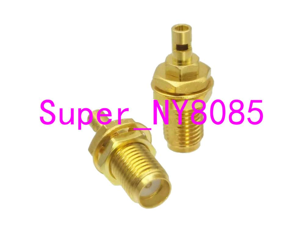 Connector SMA Female Jack Nut Bulkhead Solder For 1.13mm Cable
