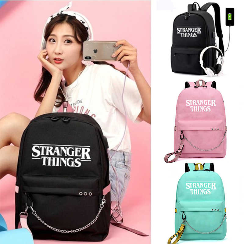 Stranger Things 3 Multifunction School Bags Students Boys Girls Rucksack Laptop Backpack for Teenagers Travel Bags USB Charge
